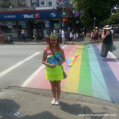 The Rainbow Crosswalk on Davie St.