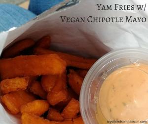Yam Fries w- Vegan Chiptole Mayo